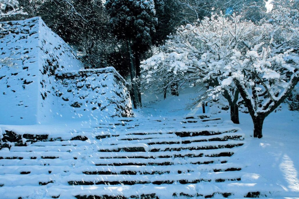 hitoyoshi_castle_winter