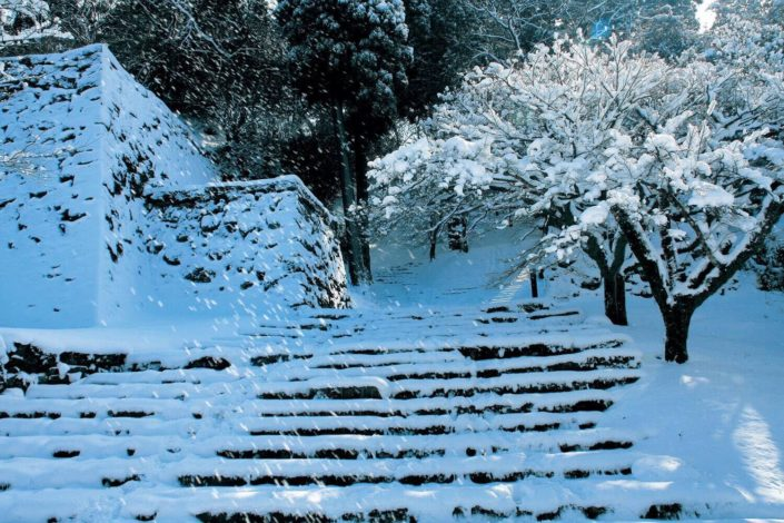hitoyoshi_castle_winter