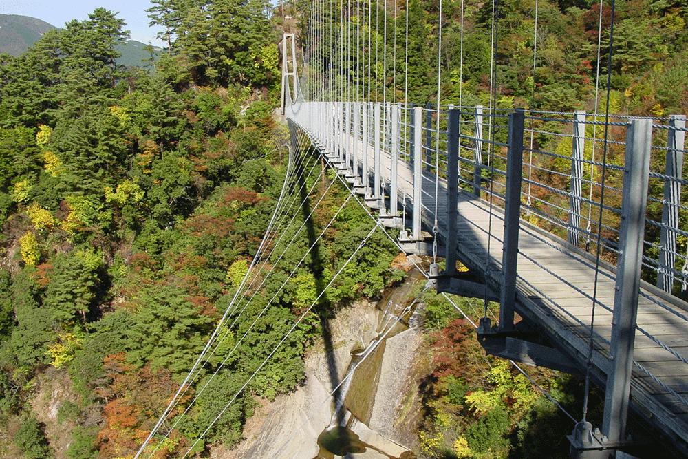 白水滝(雄滝)と白龍王橋