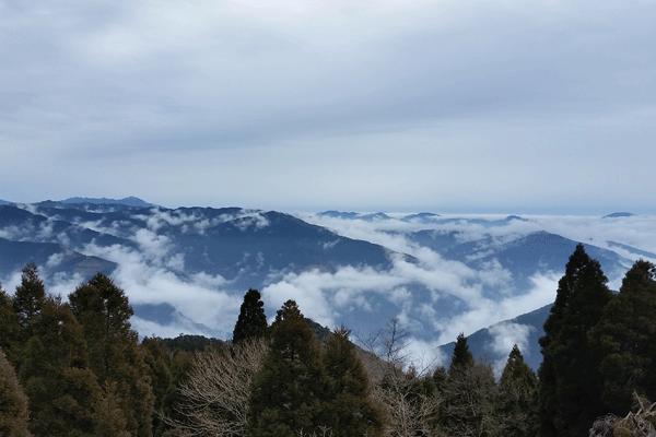 仰烏帽子山からの風景
